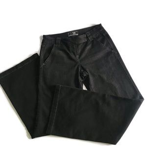 New York & Co Platinum Black Boot Cut Jeans